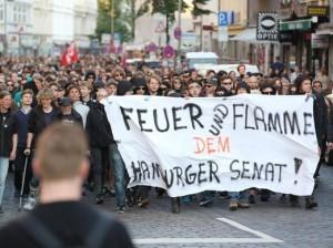 Lampedusa-Demo in Hamburg